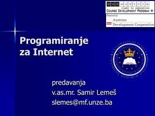 Programiranje  za Internet