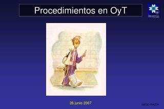 Procedimientos en OyT