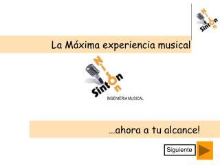 La Máxima experiencia musical