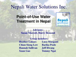 Nepali Water Solutions Inc.