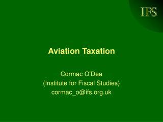 Aviation Taxation