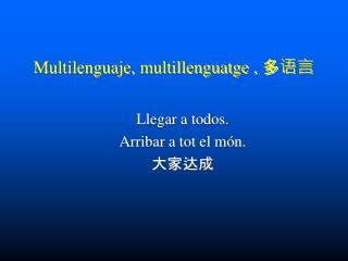 Multilenguaje,  multillenguatge  ,  多语言