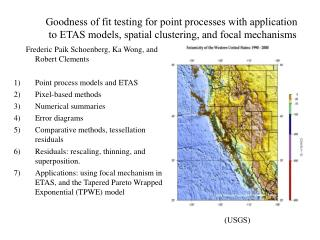 Goodness of fit testing for point processes with application