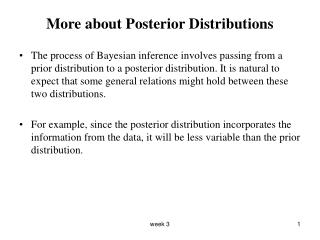 More about Posterior Distributions