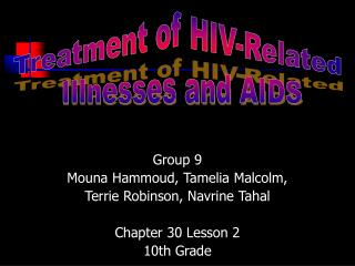 Group 9 Mouna Hammoud, Tamelia Malcolm, Terrie Robinson, Navrine Tahal Chapter 30 Lesson 2