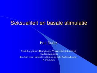 Seksualiteit en basale stimulatie
