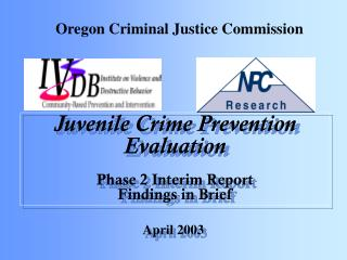Juvenile Crime Prevention Evaluation Phase 2 Interim Report Findings in Brief
