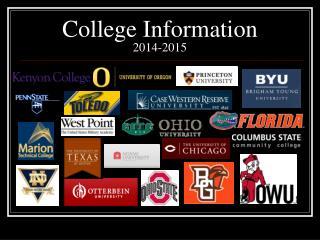 College Information  2014-2015