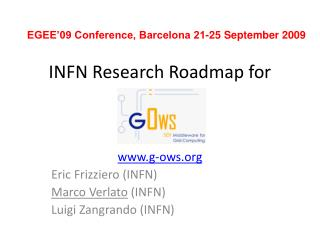 INFN Research Roadmap for