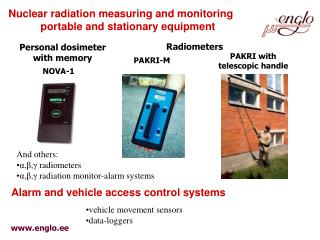 Nuclear radiation measuring and monitoring portable and stationary equipment