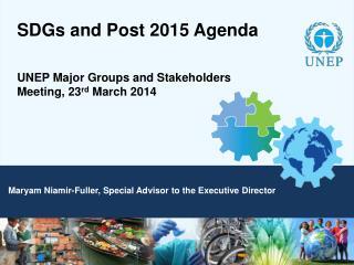 SDGs and Post 2015 Agenda