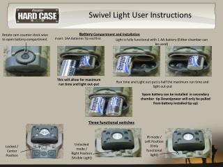Swivel Light User Instructions