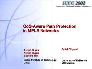 QoS-Aware Path Protection in MPLS Networks
