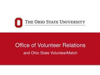 Office of Volunteer Relations