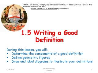 1.5 Writing a Good Definition