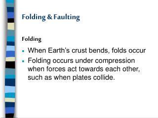 Folding & Faulting