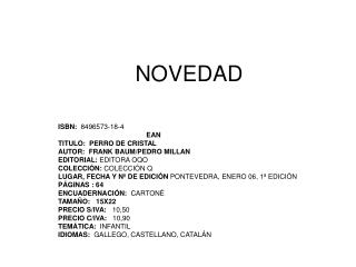 NOVEDAD