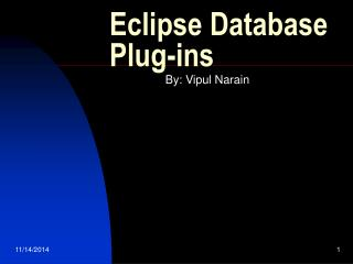 Eclipse Database Plug-ins