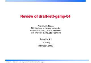 Review of draft-ietf-gsmp-04