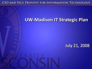 UW-Madison IT Strategic Plan