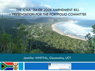 The ICMA  24 of 2008 Amendment Bill – presentation for the Portfolio Committee