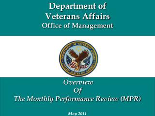 Department of  Veterans Affairs Office  of Management