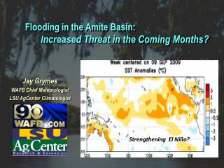 Jay Grymes WAFB Chief Meteorologist LSU  AgCenter  Climatologist