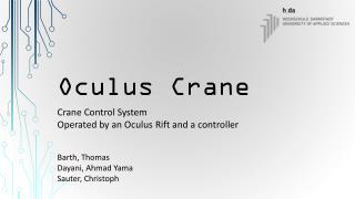 Oculus Crane