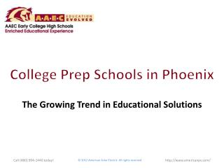 College Prep Schools in Phoenix:  The Growing Trend in Educa