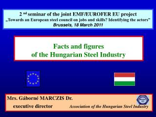 Mrs. Gáborné MARCZIS Dr.  executive director	 Association of the Hungarian Steel Industry