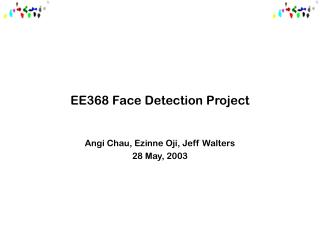 EE368 Face Detection Project