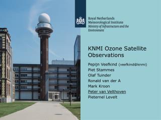 KNMI Ozone Satellite Observations