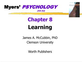 Myers�  PSYCHOLOGY 				(5th Ed)
