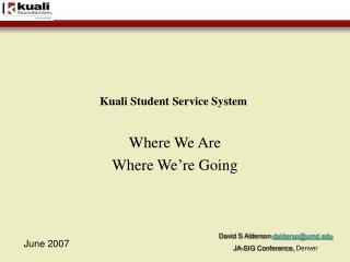 Kuali Student Service System