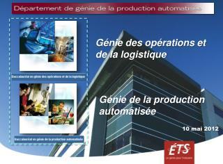 Génie des opérations et de la logistique