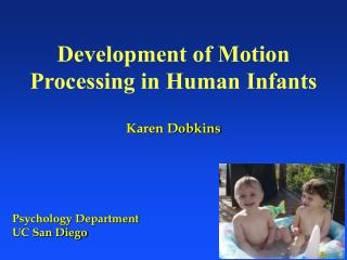 Development of Motion Processing in Human Infants Karen Dobkins