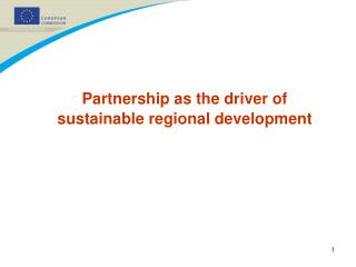 Partnership as the driver of sustainable regional development