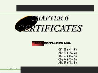 CHAPTER 6 CERTIFICATES