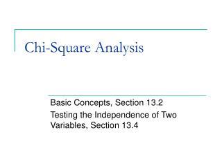 Chi-Square Analysis