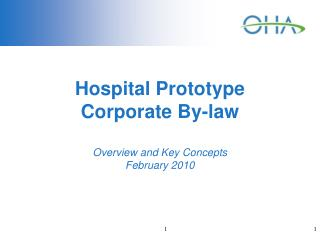 Hospital Prototype  Corporate By-law