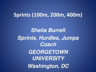 Sprints (100m, 200m, 400m)