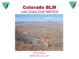 Colorado BLM Little Snake Draft RMP/EIS