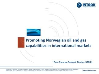 Promoting Norwegian oil and gas capabilities in international markets