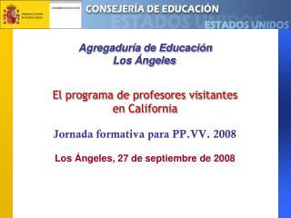Agregaduría de Educación  Los Ángeles