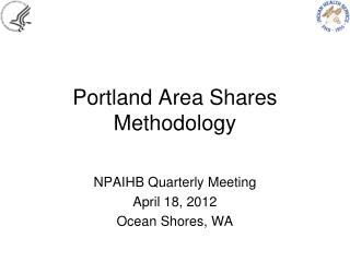 Portland Area Shares Methodology