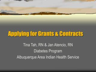Applying for Grants & Contracts