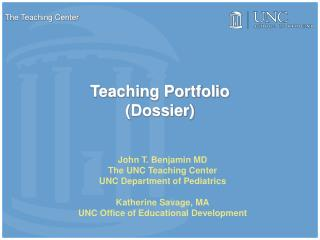 Teaching Portfolio (Dossier)