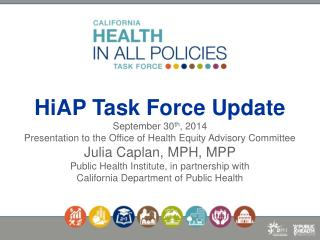 California Health In All Policies Task Force