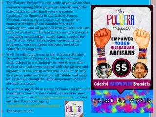 Informative Video About the  Pulsera  Project