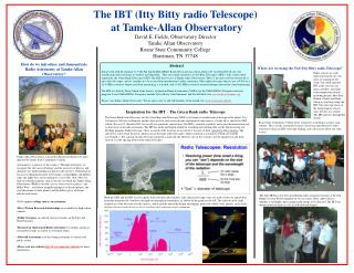 How do we introduce and demonstrate Radio Astronomy at Tamke-Allan Observatory?